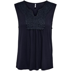 Clothing Women Tops / Sleeveless T-shirts Only T-shirt sans manches femme  onllovely life crochets night sky
