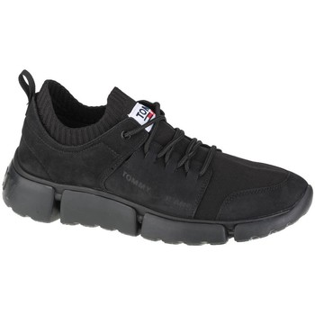 Shoes Men Low top trainers Tommy Hilfiger Jeans Chunky Mono Sock Lea Black