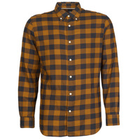 Clothing Men Long-sleeved shirts Selected SLHSLIMFLANNEL Brown / Marine