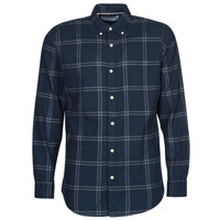 Clothing Men Long-sleeved shirts Selected SLHSLIMFLANNEL Marine