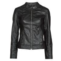 Clothing Women Leather jackets / Imitation leather JDY JDYEMILY Black