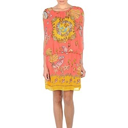 Clothing Women Short Dresses Derhy ACCORDABLE Pink / Yellow