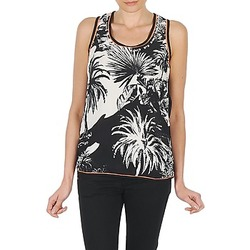 Clothing Women Tops / Sleeveless T-shirts Derhy EDEN Black / White