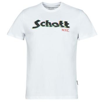 Clothing Men Short-sleeved t-shirts Schott TSLOGOELEK White