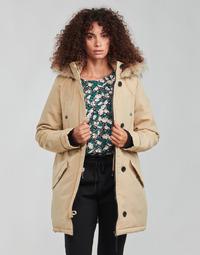 Clothing Women Parkas Vero Moda VMEXCURSIONEXPEDITION Beige