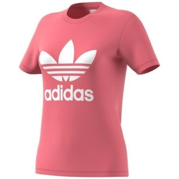 Clothing Women Short-sleeved t-shirts adidas Originals W 3STRIPES 21 Pink