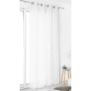 Home Sheer curtains Linder VOILE DE LIN White