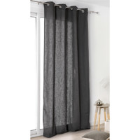Home Curtains & blinds Linder TOILE ASP.LIN Grey / Dark