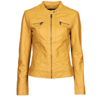 Clothing Women Leather jackets / Imitation leather Only ONLBANDIT Yellow