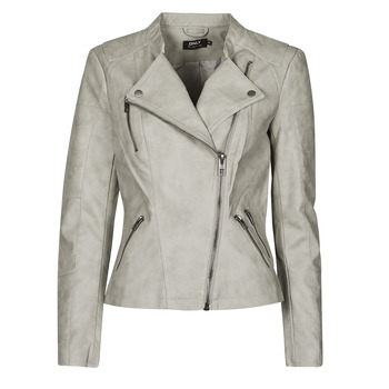 Clothing Women Leather jackets / Imitation leather Only ONLAVA Grey