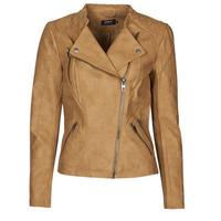 Clothing Women Leather jackets / Imitation leather Only ONLAVA Camel