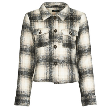 Clothing Women Jackets / Blazers Only ONLLOU Ecru / Black