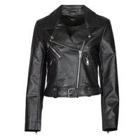 Clothing Women Leather jackets / Imitation leather Only ONLVERA Black