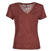 Clothing Women Short-sleeved t-shirts Only ONLSTEPHANIA Bordeaux