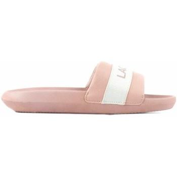 Shoes Women Sliders Lacoste Croco Slide Pink