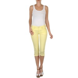 Clothing Women Cropped trousers Mustang Jasmin cropped Yellow
