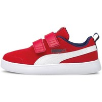 Shoes Children Low top trainers Puma Courtflex V2 Mesh V Inf White, Red