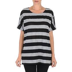 Clothing Women Short-sleeved t-shirts Vero Moda CHELLA 2/4 LONG TOP KM Grey / Black