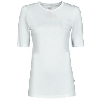 Clothing Women Short-sleeved t-shirts Puma MBASIC TEE White