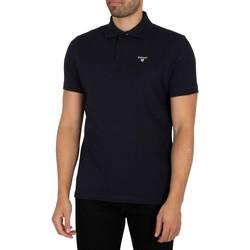 Clothing Men Short-sleeved polo shirts Barbour Tartan Pique Polo Shirt blue