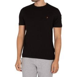 Clothing Men Short-sleeved t-shirts Farah Vintage Danny T-Shirt black