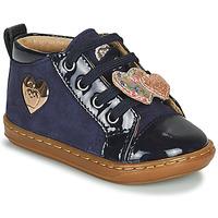 Shoes Girl Hi top trainers Shoo Pom BOUBA HEART Blue