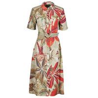 Clothing Women Long Dresses Desigual KATE Multicolour
