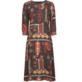 Clothing Women Long Dresses Desigual ALBURQUERQUE Multicolour
