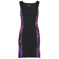 Clothing Women Short Dresses Desigual BATON ROUGE Multicolour