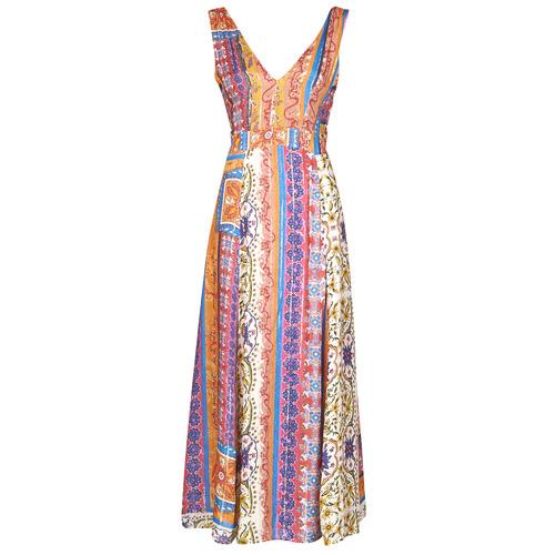 Clothing Women Long Dresses Desigual SONIA Multicolour