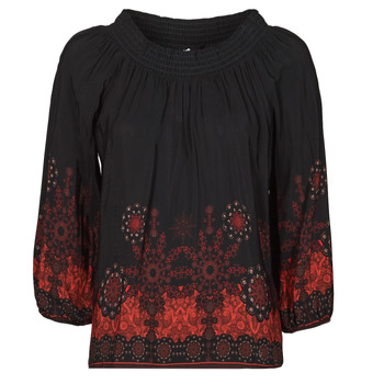 Clothing Women Tops / Blouses Desigual EIRE Black / Red