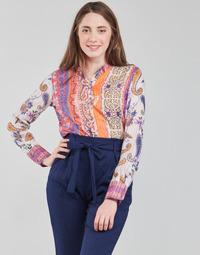 Clothing Women Long sleeved tee-shirts Desigual BOHO Multicolour