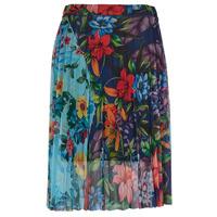 Clothing Women Skirts Desigual BUNY Multicolour