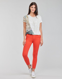 Clothing Women 5-pocket trousers Desigual ALBA Red