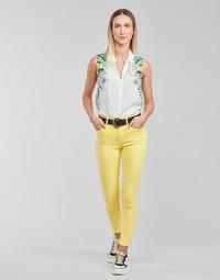 Clothing Women 5-pocket trousers Desigual ALBA Yellow