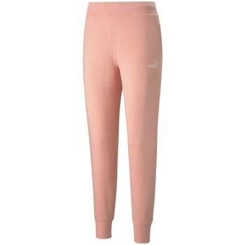 Clothing Women Tracksuit bottoms Puma Essential Logo Pink