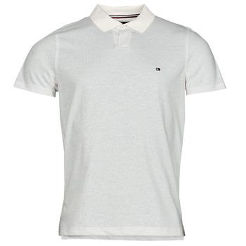 Clothing Men Short-sleeved polo shirts Tommy Hilfiger LINEN JERSEY SLIM PO, AF2 White