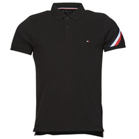 Clothing Men Short-sleeved polo shirts Tommy Hilfiger GS SLEEVE TAPE SLIM, BDS Black