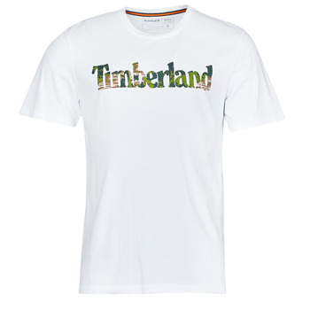 Clothing Men Short-sleeved t-shirts Timberland SS FT LINEAR TEE White