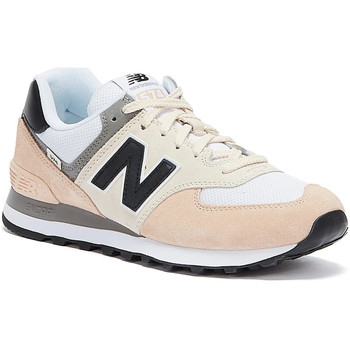 Shoes Women Low top trainers New Balance 574 Womens Rosewater / Black Trainers Cream