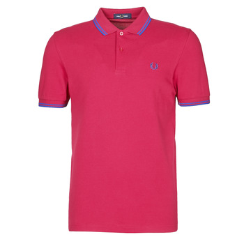 Clothing Men Short-sleeved polo shirts Fred Perry TWIN TIPPED FRED PERRY SHIRT Red