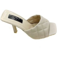 Shoes Women Sliders Stephan Beige Quilted Faux Leather Mules Pink