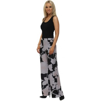Clothing Women Wide leg / Harem trousers A Postcard From Brighton Beth Dim Grey Blooming Lovely Palazzo Pants Grey