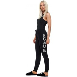 Clothing Women Tracksuit bottoms E Diva Black A GAME Sequinned Letters Joggers Black