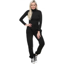Clothing Women Tracksuit bottoms Boutique Black Classic Relaxed Joggers Black