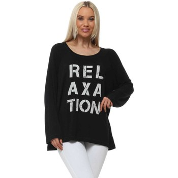 Clothing Women Tops / Blouses A Postcard From Brighton Black Relaxation Long Sleeve Sweater Black