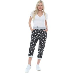 Clothing Women Tracksuit bottoms Made In Italia Black Seeing Stars Print Joggers Black