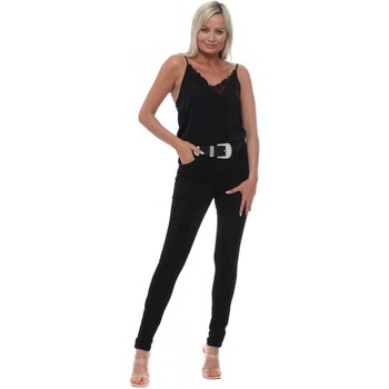 Clothing Women Skinny jeans Toxik3 Black Stretch Fit Skinny High Waisted Jeans Black