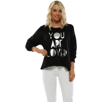 Clothing Women Sweaters A Postcard From Brighton Black You Are Loved Sweater Black