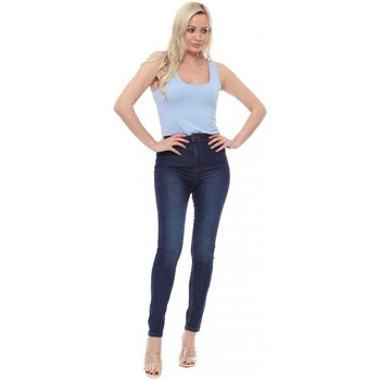 Clothing Women Skinny jeans Boutique Blue Denim High Waisted Jeggings Blue